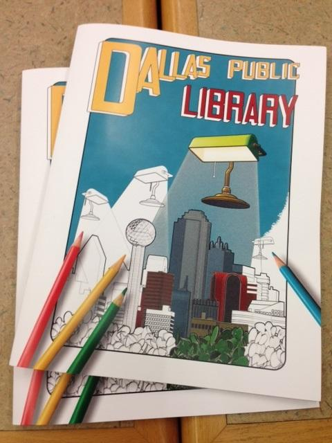 The Friends of the Dallas Public Library coloring book has been flying off the shelves.