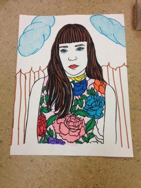 'Demure in Fleurs' by Nicole Marxen-Myers