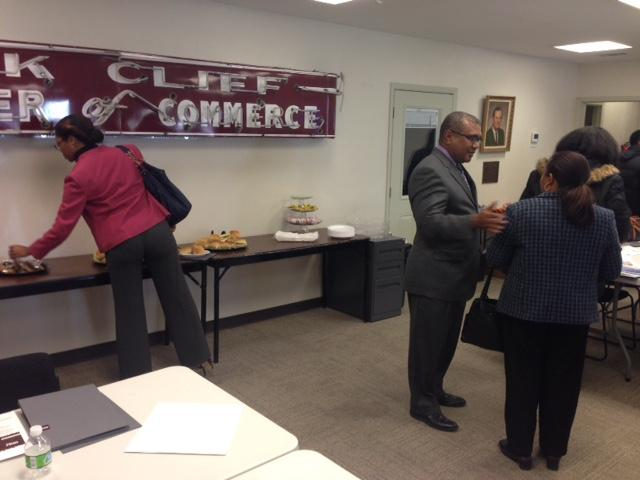 Bruce Fortner from BB&T led the first lecture of the Oak Cliff Chamber's monthly series on financial planning for small business owners.