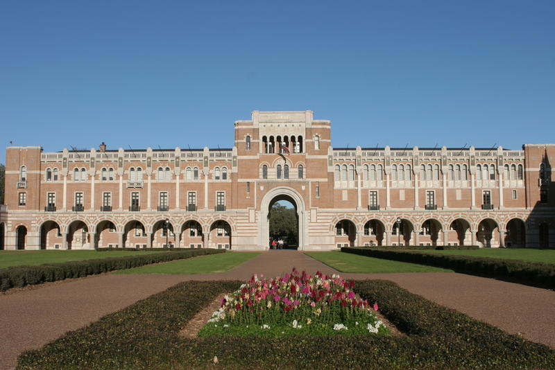Rice University in Houston. One school official says Rice is making progress with enrolling more low-income students, including Pell Grant recipients.