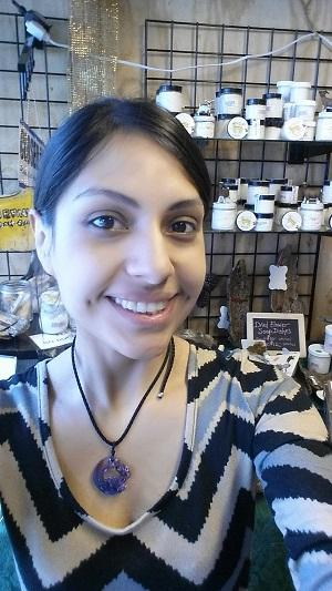 Sophie Torres hopes to transition from being part of a business that makes goat milk products to owning a business that provides space and storefront to glass blowers.
