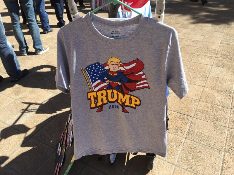 This T-shirt was for sale at a Donald Trump rally in Fort Worth.