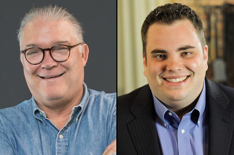 Republicans Scott W. Fisher, left, and incumbent Jonathan Stickland, right, run in the 2016 election for Texas House District 29.
