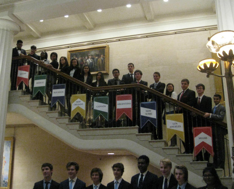 Most of the high school debaters who competed at the 4th annual Old Parkland debates in Dallas. Winners line the bottom row.
