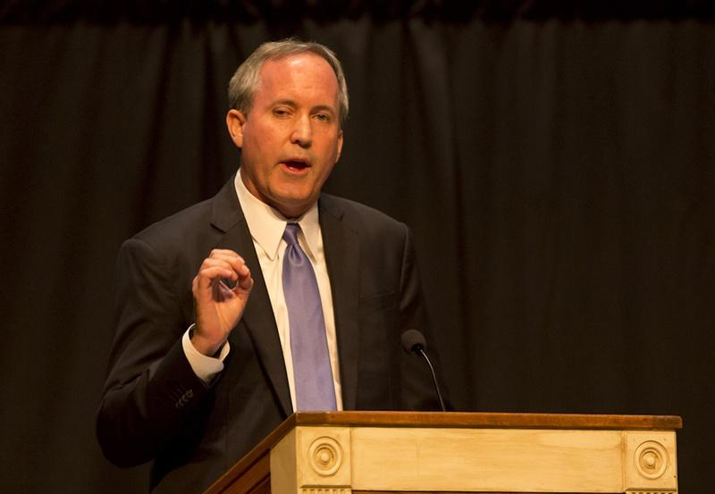 Texas Attorney Gen. Ken Paxton spoke at First Baptist Church in Plfugerville in 2015.
