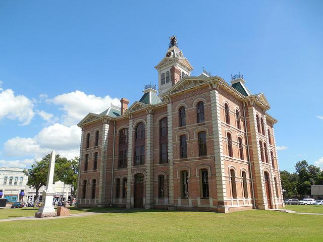 The Wharton County Courthouse in Wharton, Texas.