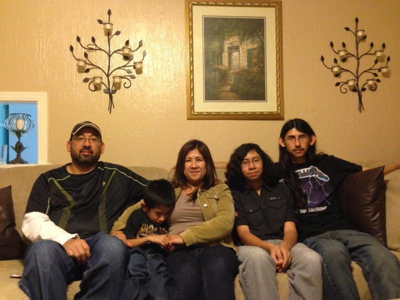 Joel's family (from left): Dad Baldemar Luera, mother Irma Luera, and brother David, 19.