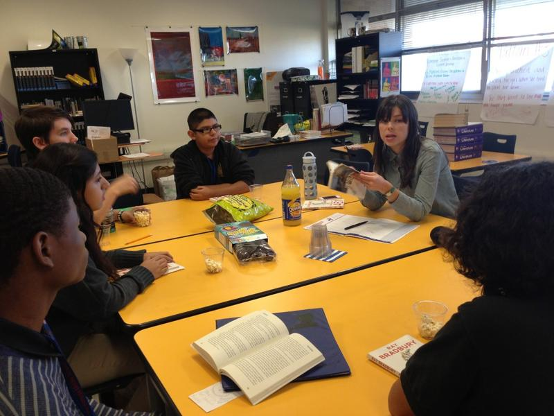 A few students in Lauren Dowdy's English class have joined an after school book club that meets once a month.