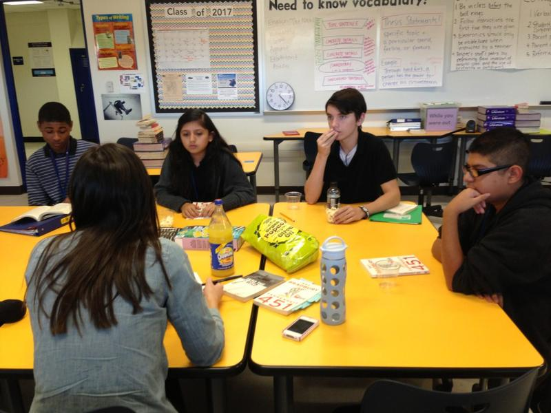 At a recent book club meeting at Samuell's Early College High School, boys outnumbered girls. Nationally, girls outscored boys on a recent reading exam.