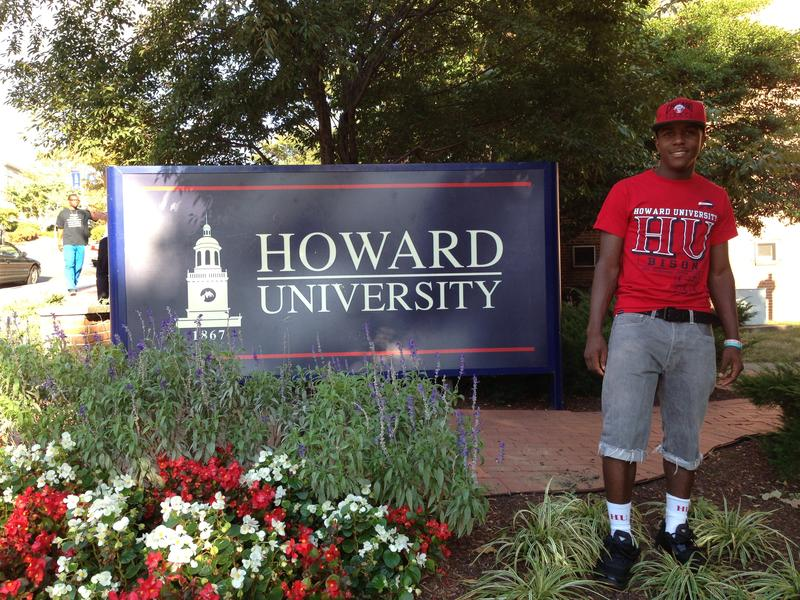 Jarrell Brown is enjoying his first semester at Howard University in Washington, D.C. But he says he misses his family and Texas-style food.