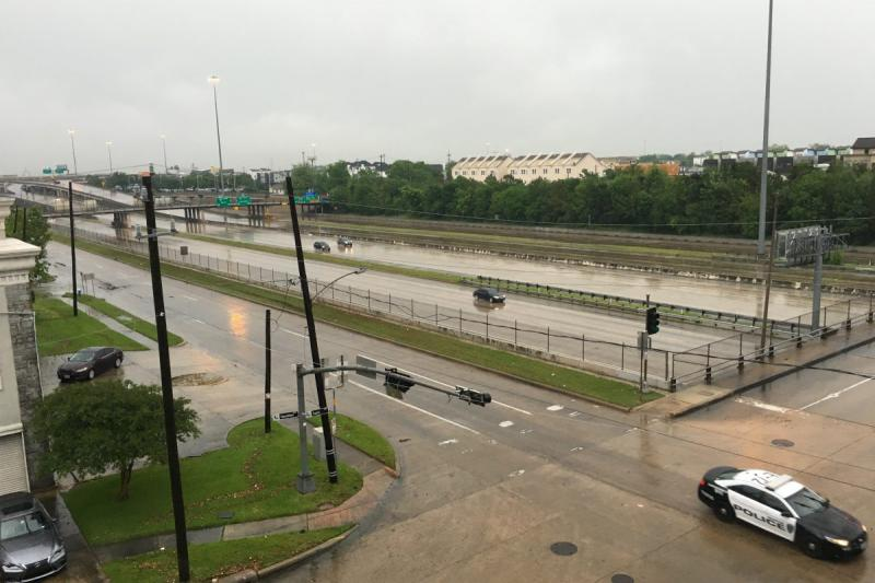Flooding in Midton Houston Monday morning.