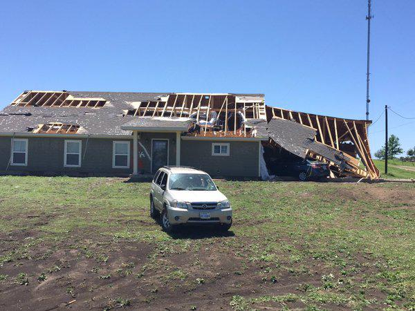 National Weather Service crews surveyed the damage in Grayson County Wednesday.
