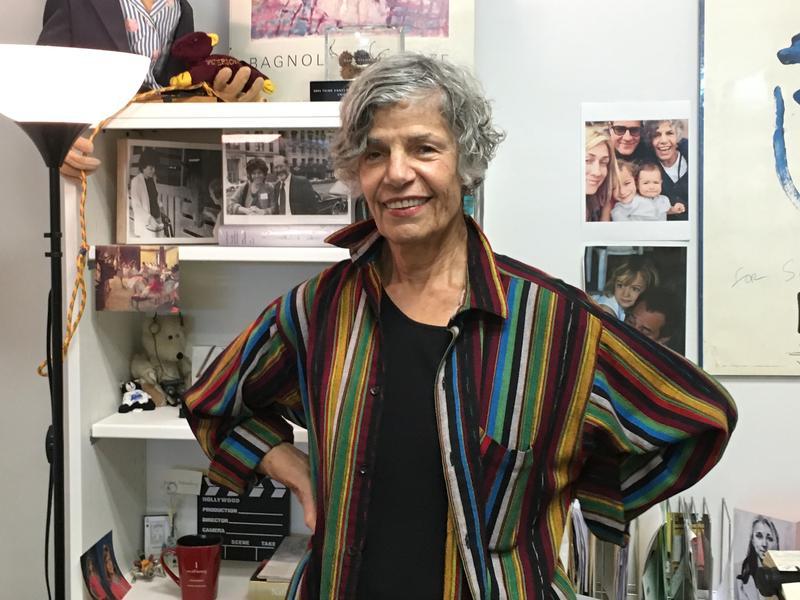 Susan Stamberg in her NPR office.