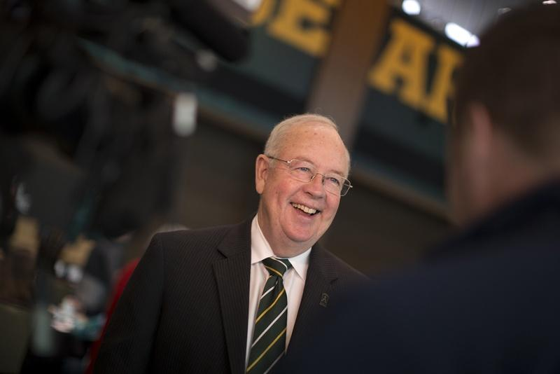 President and chancellor of Baylor University Ken Starr during the Higher Education Symposium in Waco.