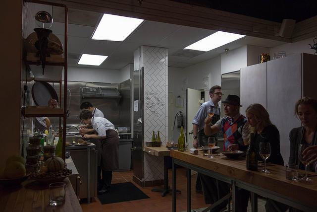 The kitchen at Oxheart in 2012.
