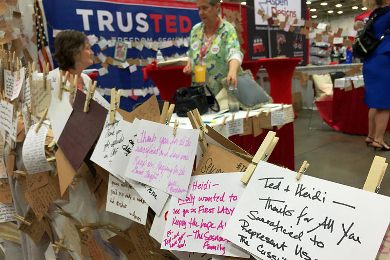 Not all Ted Cruz supporters were willing to listen to party leaders who said it's time to unify. At the Cruz booth at the convention, fans wrote thank you notes to the senator.