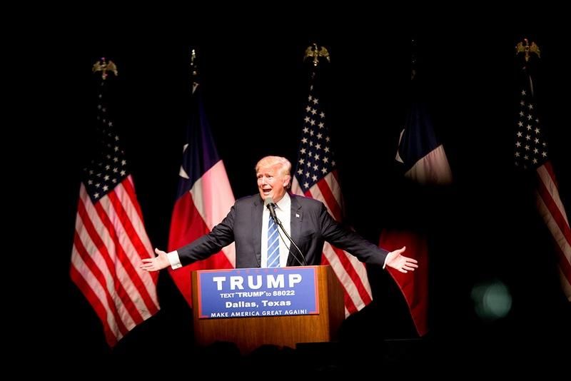 Presumptive Republican presidential nominee Donald Trump rallied supporters at Gilley's in Dallas on June 16, 2016.