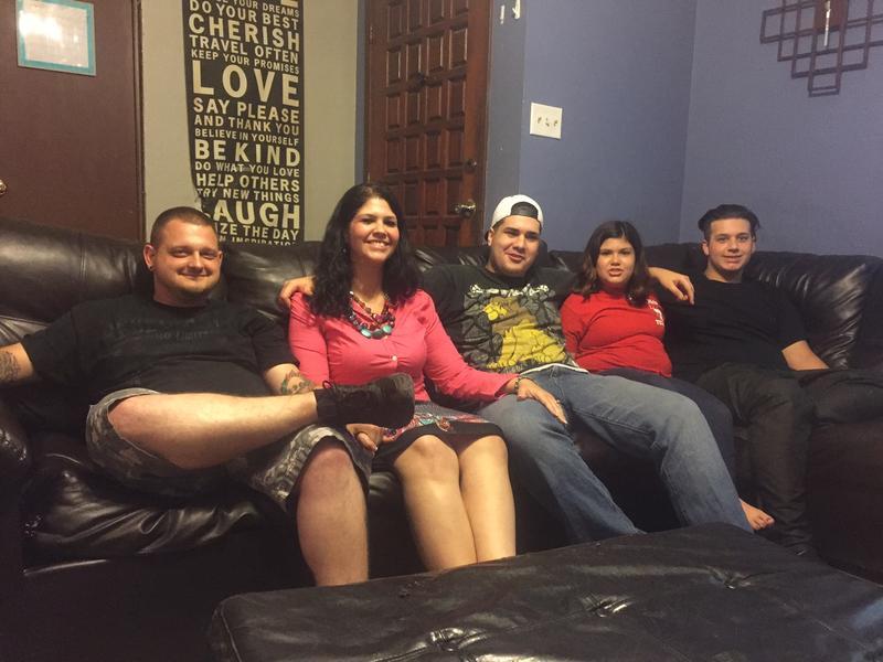 Latisha Blair and family at their Garland home.