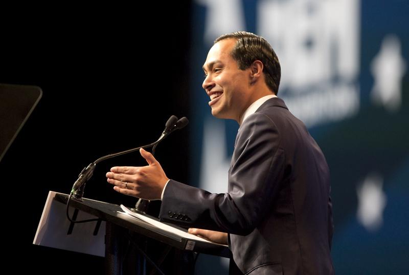 Julian Castro gives keynote speech at the Alamodome on June 17, 2016 at the Texas Democratic Convention.