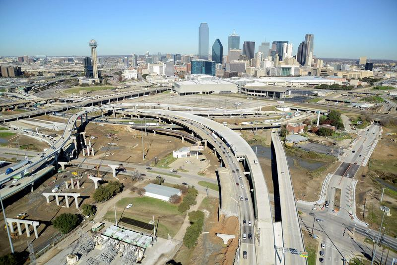 The Horseshoe Project contruction is reshaping downtown Dallas highways.