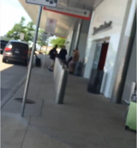 A screenshot from video posted on Instagram showing the shooting.