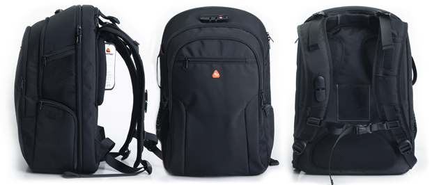 The iBackPack features a bulletproof Kevlar plate among other high-tech amenities.