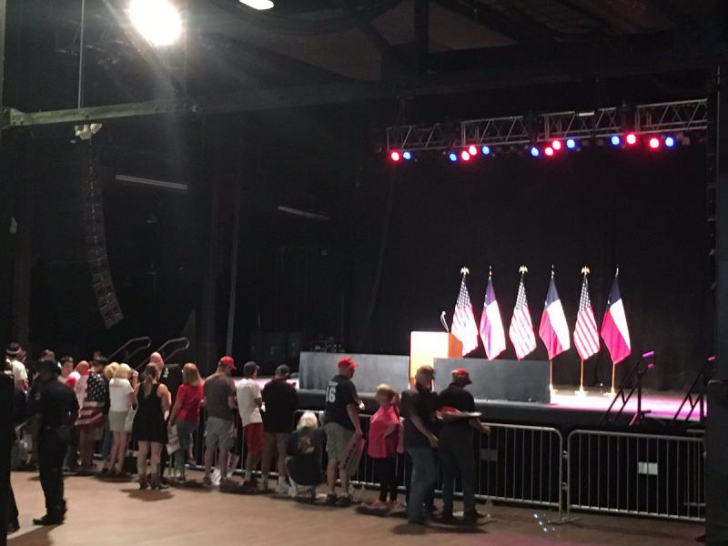 Inside Gilley's where Donald Trump will speak at 7 p.m.