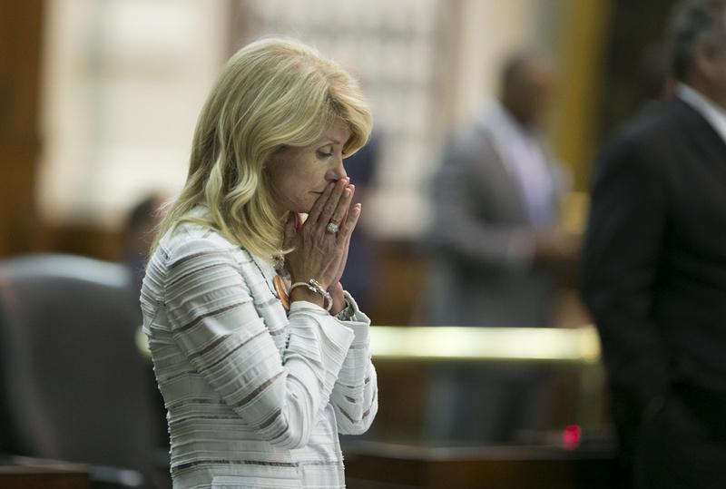 State Sen. Wendy Davis during her filibuster of an abortion bill on June 25, 2013.