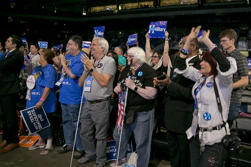 The Texas Democratic convention at the Alamodome in June.