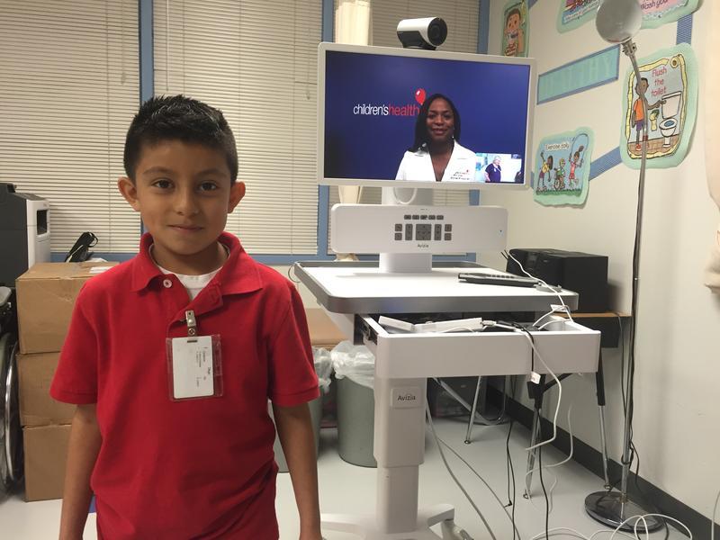 Second grader Diego Montealvo.
