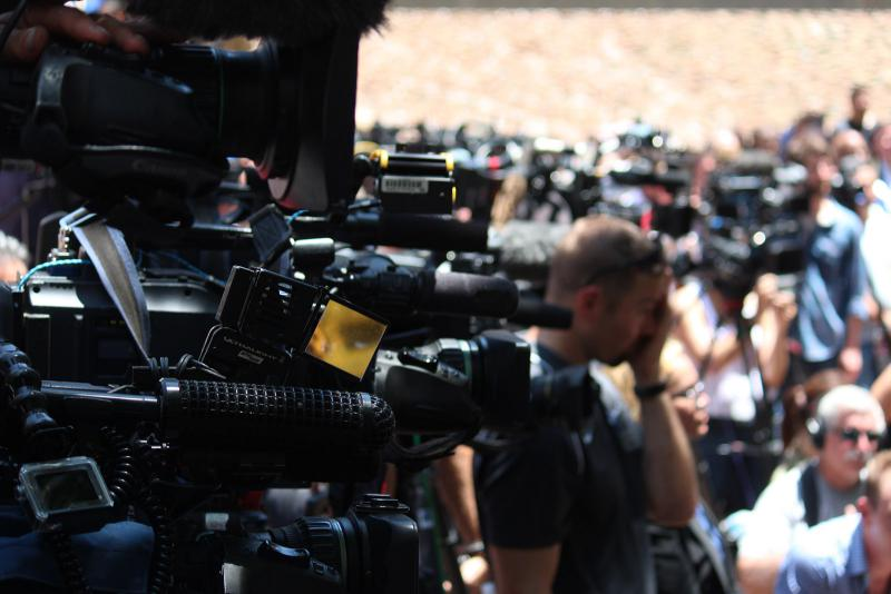 Many media representatives attended to cover the service.