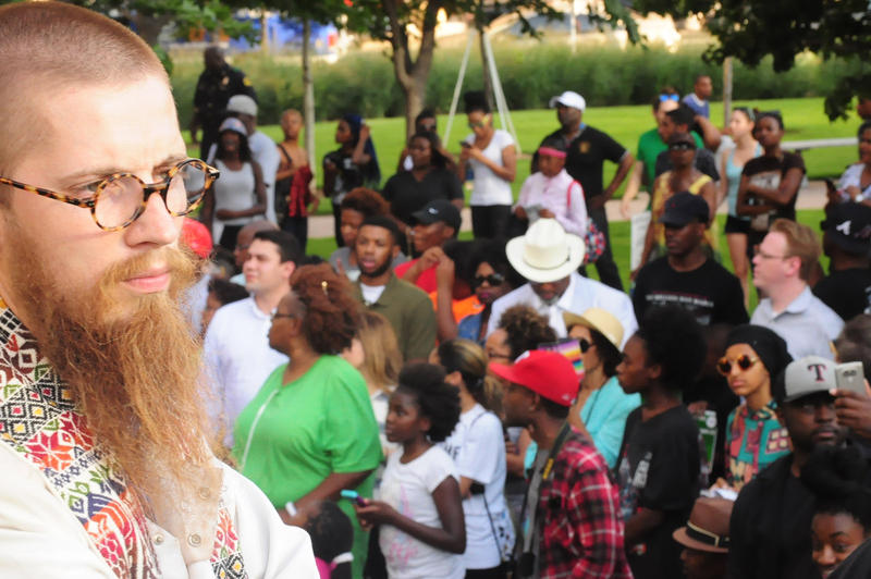 Protest organizer Jeff Hood.