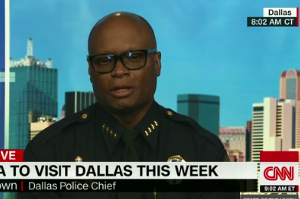 Dallas police chief David Brown appeared on CNN Sunday morning to discuss the police shooting.