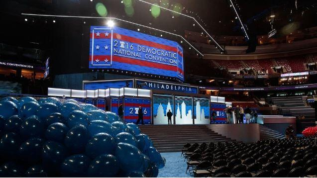 The stage is set in Philadelphia for the Democratic National Convention.
