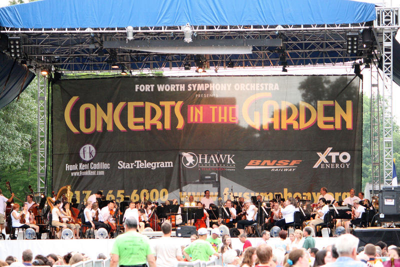 The Fort Worth Symphony performing one of its many summer concerts.