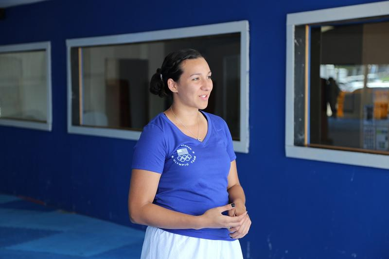 Jackie was an Olympic alternate in 2012. She clinched a spot on the 2016 team back in December because her world ranking was so high.