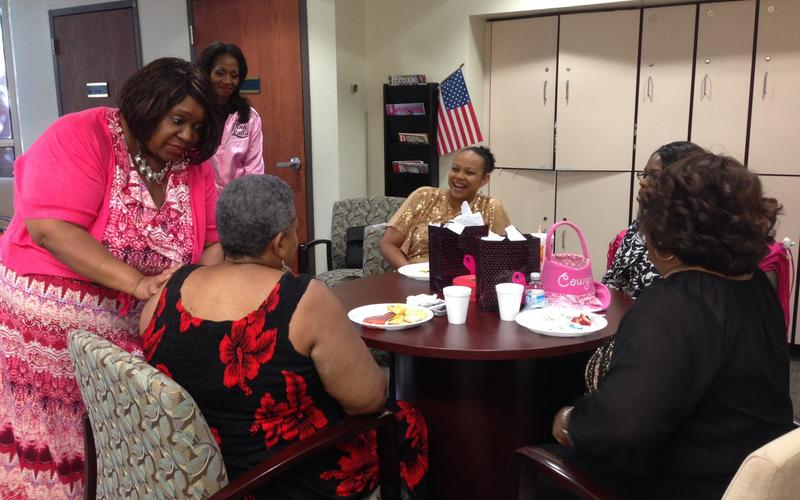 "Women in the group ""Survivors On Purpose"" meets once a month to share news, medical research and a few laughs."