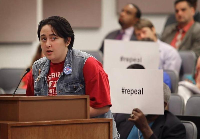 Transgender teen Benjamin Juan, a recent graduate of Arlington Heights High School, has been supportive of the district's original transgender guidelines.