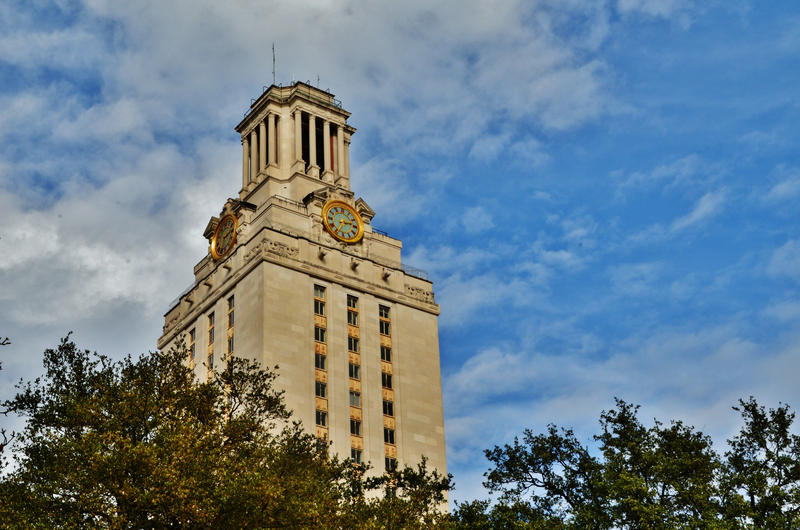 "The Main Building, also known as ""the Tower"" on the University of Texas at Austin's campus."