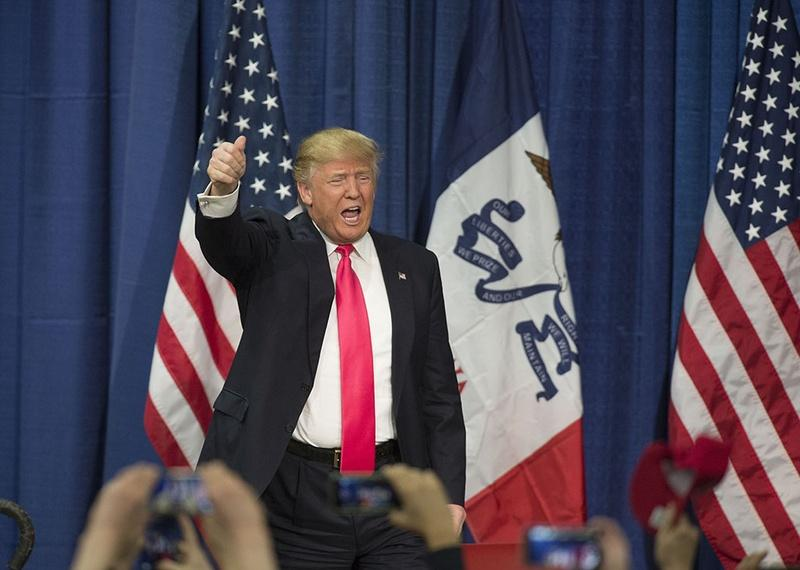 Republican frontrunner Donald Trump in Council Bluffs, Iowa on Jan. 31.