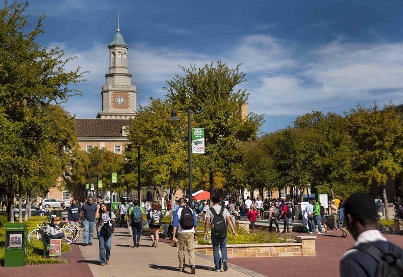 The University of North Texas had a student population of about 37,000 in the 2015-2016 school year.