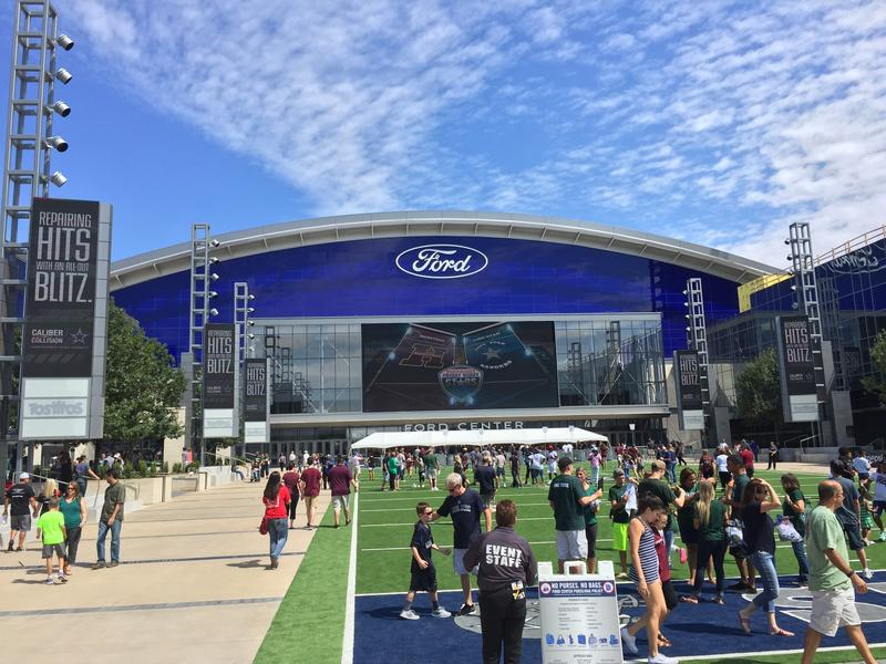 The Star in Frisco on opening day Saturday. Four high school football games were held in one day.