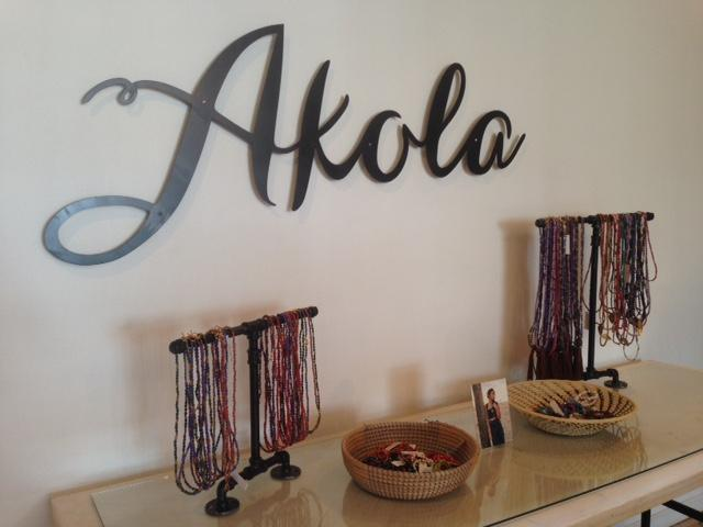 Akola products are made from paper beads, horn, bone and other scrap materials