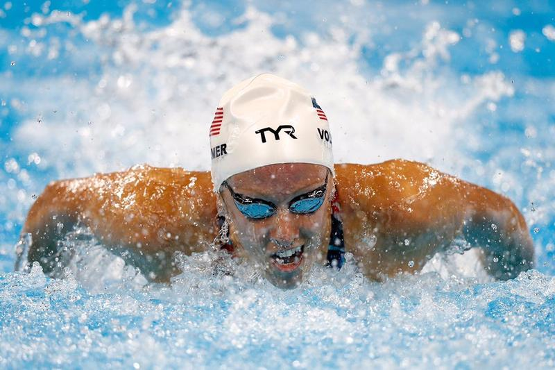 Granbury's Dana Vollmer won the bronze medal for the 100-meter fly Sunday night in Rio.