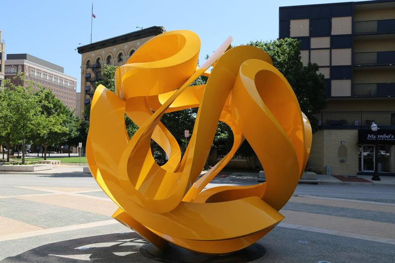 """Tabachin Ribbon"" by Mexican artist Yvonne Domenge was donated to the City of Fort Worth."