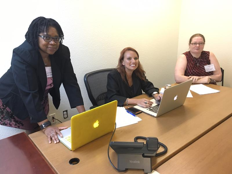 Kaylor Aryee, Connie Beckerly and Vanessa Alberts are enrolled in the UNT Dallas College of Law.