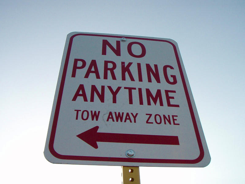 "Eight fake ""no parking"" signs were put up by residents of a Fort Worth neighborhood on along a street without any restrictions."