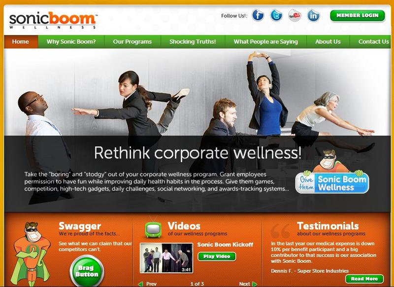 "Sonic Boom Wellness is a corporate wellness company that ""gamifies"" wellness, capitalizing on social networking, competition, and incentive programs."