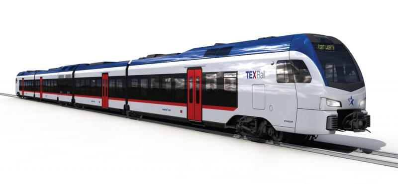 The TEX Rail trains are designed in Switzerland and construction will be completed in Utah.