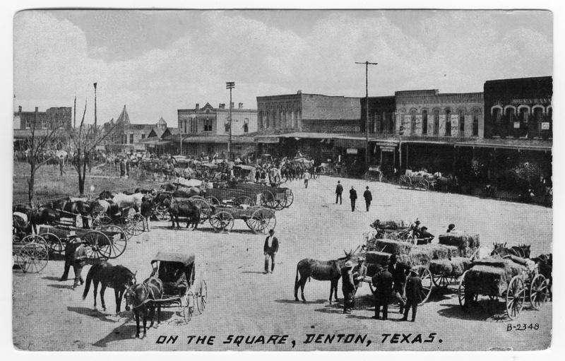 Postcard of Denton Square